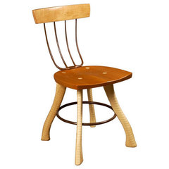 eclectic dining chairs and benches by Bradford Woodworking