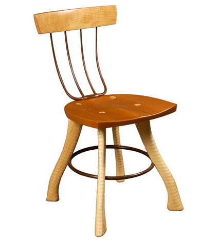Eclectic Dining Chairs by Bradford Woodworking