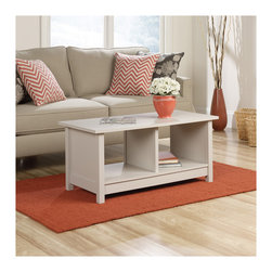 Living Room   Smart Furniture - The Cottage Coffee Table is an easy addition to your living room with a classic design and two storage bins. Find it and more at SmartFurniture.com