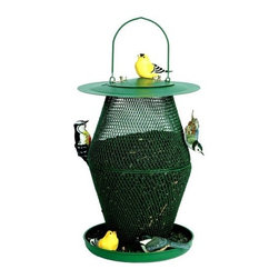No-No Feeder - Green Lantern Feeder - No/No's Green Lantern is an all metal coolapsible wire mesh bird feeder that holds over 6 pounds of black oil sunflower seeds. The bronze finish has a glossy textured finish. All No/No bird feeders are dishwasher safe.