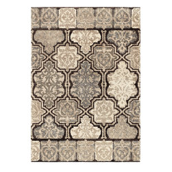 """Orian - Orian Wild Weave Modern Tile (Black) 7'10"""" x 10'10"""" Rug - 35 mm, 1800/2ply polypropylene heat set yarns create a densely woven ultra plush texture that's like walking on cotton. With a 12 color creel, we can create warm and cool color combinations that color coordinate with many decor styles or stand out as the dramatic focal point of the room. There is no other shag like this on the market so kick off your shoes and enjoy!"""