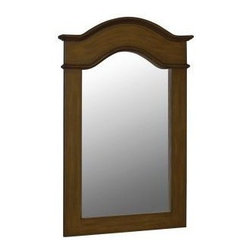 Belle Foret - Belle Foret 36 in. x 24-1/2 in. Framed Vanity Mirror, Aged Walnut (80070) - Belle Foret 80070 36 in. x 24-1/2 in. Framed Vanity Mirror, Aged Walnut