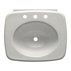 "KOHLER - KOHLER K-2340-8-0 Pedestal Bathroom Sink Bowl with 8"" Widespread Faucet Hole - KOHLER K-2340-8-0 Pedestal Bathroom Sink Bowl with 8"" Widespread Faucet Holes in White"