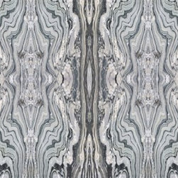 Walls Republic - Blue-Grey Alabaster Mural Wallpaper M8927 - 4 Panels - Blue-Grey Alabaster is a large scale digital mural with a realistic marble texture. It gives you the rich lush look of real marble and has high visual impact in your living room or lobby. Due to this item being a custom order, it takes longer to ship than our regular products.