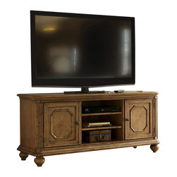 Tommy Bahama Home - Tommy Bahama Home Beach House Bonita Entertainment Console in Golden Umber - Tommy Bahama Home - TV Stands - 010540907 - An attractive option for accommodating media components. There is an adjustable shelf behind each door and two adjustable shelves in the open area.