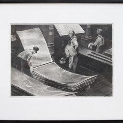Minna Citron, Sheet Aluminum, Lithograph - Artist:  Minna Citron, American (1896 - 1991)