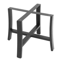 """Meadowcraft - Meadowcraft Maddux Wrought Iron End Table Base - The Maddux collection offers a classic design and a slightly more formal look detailed with elegantly designed plush double piped cushions providing exceptional comfort. As the years go by these clean lines with attention to detail will make your backyard patio or porch a favorite respite for spending time with family and friends. Maddux can complement several areas with dining deep seating or chat. The gas burning linear firepit adds ambiance to any gathering.Meadowcraft is a leading domestic manufacturer of quality wrought iron furniture and cushions located in Wadley Alabama.  With traditional and post war modern styles utilizing subtle understated designs Meadowcraft furniture is an excellent addition to any home. Whether choosing the deep seating comfort of a cushioned loveseat or the comfortable durability of a commercial grade mesh bistro chair you are invited to relax in all of Meadowcrafts products.  Meadowcraft takes the """"made in the U.S.A."""" label seriously and strives to exceed its perceived responsibilities to their customers and community.  Features include Made of extremely durable wrought iron material Hand formed by skilled craftsmen to insure the strongest furniture in the industry Offered in wide selection of powder coated finishes manufactured to prevent rust Square corner chape."""
