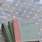 Basketweave Stone Mosaic - Basketweave 3x5 cm in Bianco Antico and Blue Lightning polished