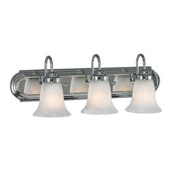 Golden Lighting - Golden Lighting 5221-3-CH-MBL Brookfield 3 Light Bathroom Vanity Light, Chrome - Brookfield CH 3 Light Vanity in the Chrome finish