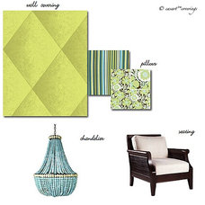 Eclectic Living Room by Casart Coverings