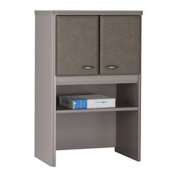 """BBF - BBF Series A 24W Storage Hutch - BBF - Hutch - WC14525 - A perfect addition to your BBF 24""""W Piler/Filer the BBF Series A 24""""W Hutch is designed to add even more versatility to your office space. One adjustable shelf lets you store books supplies and personal items while a closed storage compartment is provided to stow items out of sight. With Euro-style self closing hinges for a soft-close the 24""""W Hutch provides plenty of options when used atop the 24""""W Piler/Filer. Solid construction meets ANSI/BIFMA test standards in place at time of manufacture; this product is American Made and is backed by BBF 10-Year Warranty."""