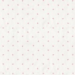 Wallpaper Worldwide - Hero - Hearts Wallpaper, White, Pink - Material: Paper