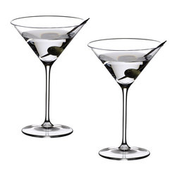 "Riedel - Riedel Vinum XL Martini Glasses - Set of 2 - Launched in 2008. Martini - James Bond's favorite aperitif, served ""shaken not stirred"". The Vinum XL Martini is the classic bar glass for all Martini's and Cocktails, timeless in its elegance and beauty, and the perfect right capacity."