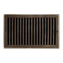 """Brass Elegans 116G AB Brass Decorative Air Return Vent Cover - Contemporary - An - This antique brass finish solid brass air return vent cover with a contemporary design fits 6"""" x 10"""" duct openings and adds the perfect accent to your home decor."""