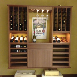 Select Series 'Wall Install' Floating wine racks - Kessick Wine Cellars 'Select Series' wine racking is a fully assembled, wall mounted wine storage and wine display racking system.