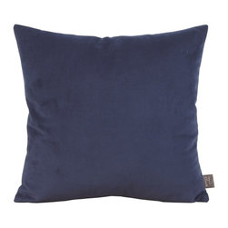 Howard Elliott - Bella Royal 16 x 16 Pillow - Change up color themes or add pop to a simple sofa or bedding display by piling up the pillows in a multitude of colors, textures and patterns. This Bella pillow features a lush velvet in a bold Royal blue.