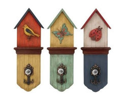 """BZBZ34898 - Metal Wall Hook with Three Colors 3 Assorted - Metal Wall Hook with Three Colors 3 Assorted. Add to your sober settings the grace and elegance of the classic English designs with this Set of attractive wood metal hook wall decor. It comes with a following dimension 8""""W x 3""""D x 22""""H."""