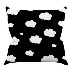 "Kess InHouse - Suzanne Carter ""Clouds"" Black White Throw Pillow (16"" x 16"") - Rest among the art you love. Transform your hang out room into a hip gallery, that's also comfortable. With this pillow you can create an environment that reflects your unique style. It's amazing what a throw pillow can do to complete a room. (Kess InHouse is not responsible for pillow fighting that may occur as the result of creative stimulation)."