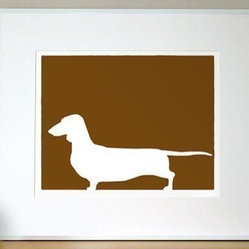 Mod Dachshund Print 8x10 by ModDogShop on Etsy