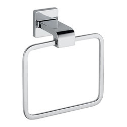 Delta Towel Ring - 77546 - Inspired by geometric designs found in mid-century modern furniture, Arzo makes a bold statement in understated fashion.