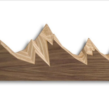 Brave Space Design - Coat Range - Who says a coat rack has to be boring and traditional? Hang this mountain range in an entry way for a clever spot to hang extra jackets and bags. Beautifully contrasting pieces of walnut and maple evoke the iconic Grand Tetons and serve as a useful work of art in the home.