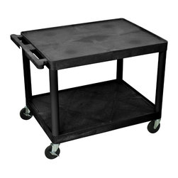 Luxor - Luxor Presentation Cart - LP27E-B - Luxor LP series presentation station AV carts are made of recycled high density polyethylene structural foam molded plastic shelves that will not scratch, dent, rust or stain.