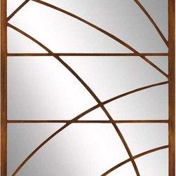 Paragon Decor - Antique Gold Orbit - Antique gold bands splice and loop across our rectangular mirror.