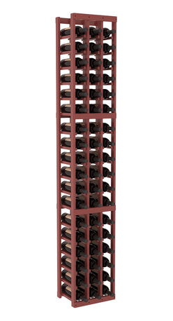 Wine Racks America - 3 Column Standard Wine Cellar Kit in Pine, Cherry + Satin Finish - Each wine cellar rack meets Wine Racks America's unparalleled fabrication standards. Modular engineering provides universal kit compatibility which enables connoisseurs to mix and match wine rack kits until you achieve a personally-defined wine bottle storage system.