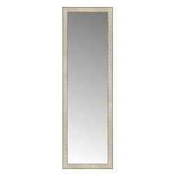 """Posters 2 Prints, LLC - 17"""" x 53"""" Libretto Antique Silver Custom Framed Mirror - 17"""" x 53"""" Custom Framed Mirror made by Posters 2 Prints. Standard glass with unrivaled selection of crafted mirror frames.  Protected with category II safety backing to keep glass fragments together should the mirror be accidentally broken.  Safe arrival guaranteed.  Made in the United States of America"""