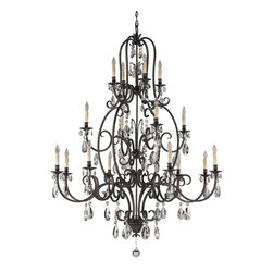 Murray Feiss - Murray Feiss Salon Maison Traditional Chandelier X-STA4+4+8/0322F - Graceful flow of curving arms is displayed in this magnificent towering frame. The Murray Feiss Salon Maison Traditional chandelier is dressed with clear crystal pendants that provide a dazzling look. The chandelier brings excellent brilliance to the room creating a lavish yet elegant ambiance. It is a lovely fixture that exudes a captivating and splendid appeal.