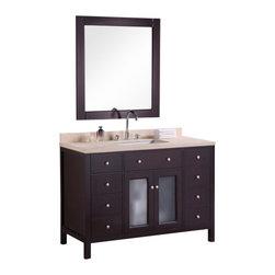 "Design Element - Design Element DEC302C Venetian 48"" Single Sink Vanity Set in Espresso - Design Element DEC302C Venetian 48"" Single Sink Vanity Set in Espresso"