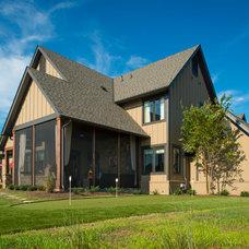 Rustic Exterior by Dillard-Jones Builders, LLC