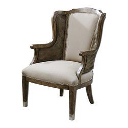 Joshua Marshal - Wood And Faux Lambskin Nessa Faux Lambskin Chair - Wood And Faux Lambskin Nessa Faux Lambskin Chair