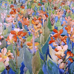 "Maurice Prendergast Bed of Flowers (also known as Cannas or The Garden) - 16"" x - 16"" x 24"" Maurice Prendergast Bed of Flowers (also known as Cannas or The Garden) premium archival print reproduced to meet museum quality standards. Our museum quality archival prints are produced using high-precision print technology for a more accurate reproduction printed on high quality, heavyweight matte presentation paper with fade-resistant, archival inks. Our progressive business model allows us to offer works of art to you at the best wholesale pricing, significantly less than art gallery prices, affordable to all. This line of artwork is produced with extra white border space (if you choose to have it framed, for your framer to work with to frame properly or utilize a larger mat and/or frame).  We present a comprehensive collection of exceptional art reproductions byMaurice Prendergast."
