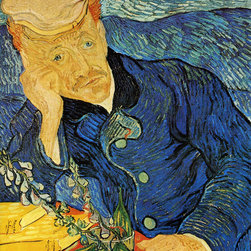 WCC - Dr Paul Gachet Vincent Van Gogh Giclee Print on Highest Quality Artist's Canvas - High quality 0.56 mm thick 400 gsm cotton canvas.