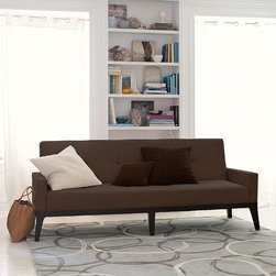 Clark Sofa - I like the nod to midcentury style in this handsome, tufted couch-meets-sofa-bed.