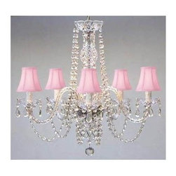 Gallery - Gallery T40-136 Authentic 5 Light 1 Tier Crystal Chandelier - Features:
