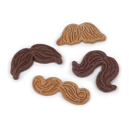 Fred and Friends - Munchstache Cookie Cutters, Set of 5 - How would you look with a mustache? There's no need to grow one, just use these moustache-making cookie cutters to create the perfect look. Try 'em on for size, then eat 'em! Munchstaches are easy to make too - one side cuts the shape and the other stamps the details. Doesn't that sound like fun for the whole family?