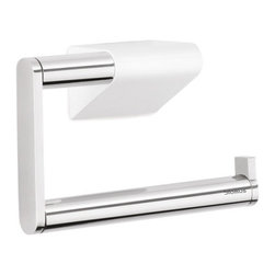 Blomus - Sento Wall-Mounted Toilet Paper Holder - Polished - Form and function, hand in hand again. This modernist take on the classic toilet paper holder is well designed. And, needless to say, it's also attractive.  But in addition, it adds one other perk: It allows you to perfect the one-handed roll replacement slide. A small but still a very satisfying accomplishment.