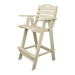 Polywood - Eco-friendly Bar Chair in Sand - The Nautical Collection offers many different chair styles along with tables in both traditional and taller heights. you'll find the perfect match for your decor. Grab a cold drink and make yourself comfortable in the Polywood Nautical Bar Chair.