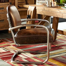 Archer Leather & Metal Desk Chair   Pottery Barn