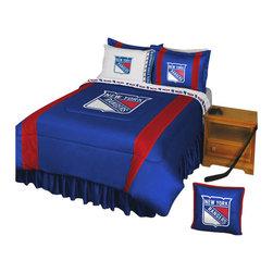 Store51 LLC - NHL New York Rangers Bedding Set Hockey Bed, Full - Features: