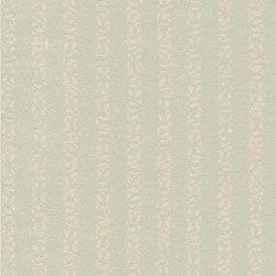 Wallpaper Worldwide - Louvre - Lacey Stripe Wallpaper, Green, Pastels, Beige - Material: Non-woven. PVC.