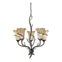 Vaxcel - Monterey Autumn Patina 5 Light Chandelier - Vaxcel MY-CHU005AA Monterey Autumn Patina 5 Light Chandelier