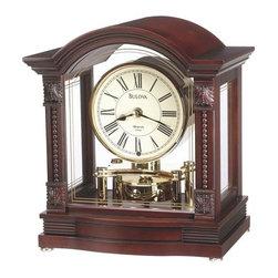 BULOVA - Bulova Bardwell Dual-Chime Mantel Clock Model B1987 - This decorative mantel clock features: