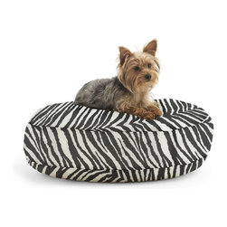 Comfort Research - Comfort Research Wuf Fuf Round Pet Bed in Tunisia Black - Small - Your pet wants style too! Every dog has a unique personality. Express it with the fun patterns and fabrics of the Wuf Fuf pet bed collection. Filled with soft and durable Fuf foam these beds provide a comfortable nest for your pet to snuggle into without compromising style. Stylish and comfortable these beds are sure to be your pet's new favorite.