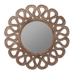 Cooper Classics Norfolk Wall Mirror - The lines on this mirror are great. I would spray it a bright, fun color.