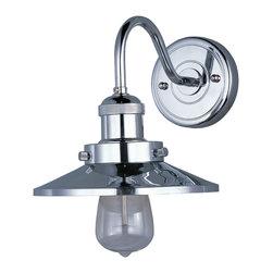 Maxim Lighting - Maxim Lighting 25080 Mini Hi-Bay Wall Sconce - 1 Bulb, Bulb Type: 60 Watt Incandescent, Bulb Included