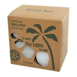 Aloha Bay - Aloha Bay Palm Wax Tea Lights With Aluminum Holder - 12 Candles - Aloha Bay Palm Wax Tea Lights with Aluminum Holder Description: