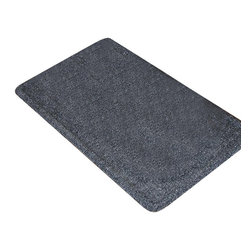"""Notrax - Doggie Butler Floor Mat (11"""" x17"""" in Blue), 11"""" X17"""" in Charcoal - Color: 11"""" x17"""" in Charcoal. Great for use under bowls or stands. Absorbent carpet surface sucks up water from spills. Rubber backing keeps the mat in place. Simply vacuum or lightly hose off to clean. Made from carpet and rubber. 11"""" x 17"""" Size: 17 in. L x 11 in. W x 0.25 in. H. Doggie Butler serves as the perfect mealtime tray for man's best friend.  A smooth top design makes for easy clean up with no textured areas for food to get caught. The Doggie Butler has a raised lip perimeter that keeps bowls securely on the mat, and prevents stray food and water from leaking onto the floor. Doggie Butler is available in a variety of stylish colors (even if your dog can't tell)."""